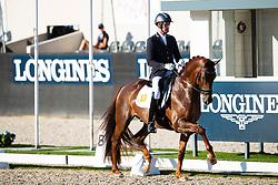 Van Silfhout Diederik, NED, Habana Libre A<br /> World ChampionshipsYoung Dressage Horses<br /> Ermelo 2018<br /> © Hippo Foto - Dirk Caremans