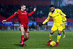 Alex Jakubiak of Bristol Rovers takes on Dan Barlaser of Accrington Stanley - Mandatory by-line: Robbie Stephenson/JMP - 12/01/2019 - FOOTBALL - Wham Stadium - Accrington, England - Accrington Stanley v Bristol Rovers - Sky Bet League One