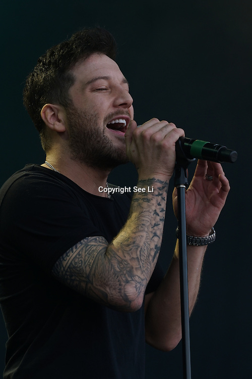 London, Trafalgar Square London,UK,19th June 2016, Matt Cardle on stage at West End Live in Trafalgar Square, London. Photo by See Li