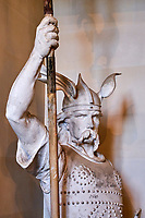 France, Bourgogne-Franche-Comté, Yonne (89), Sens, musée de Sens, statue de Brennus // France, Burgundy, Yonne, Sens, museum, Brennus statue