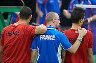 SO France team at badminton competition during seventh day of the Special Olympics World Games Los Angeles 2015 on July 31, 2015 at South Hall of Convention Centre  in Los Angeles, USA.<br /> <br /> USA, Los Angeles, July 31, 2015<br /> <br /> Picture also available in RAW (NEF) or TIFF format on special request.<br /> <br /> For editorial use only. Any commercial or promotional use requires permission.<br /> <br /> Adam Nurkiewicz declares that he has no rights to the image of people at the photographs of his authorship.<br /> <br /> Mandatory credit:<br /> Photo by © Adam Nurkiewicz / Mediasport