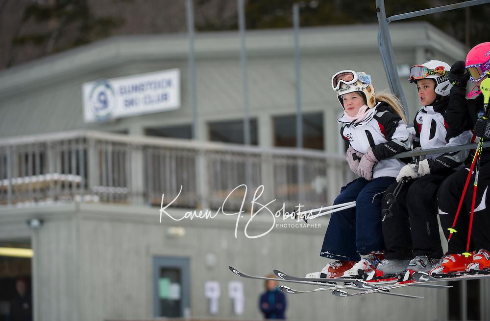 U 14 racers Gus Pitou Memorial alpine ski race January 13, 3013.