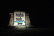 The sign at the main entrance of Nubs Nob ski area in Harbor Springs.