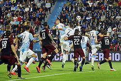 """Foto LaPresse/Filippo Rubin<br /> 26/05/2019 Ferrara (Italia)<br /> Sport Calcio<br /> Spal - Milan - Campionato di calcio Serie A 2018/2019 - Stadio """"Paolo Mazza""""<br /> Nella foto: GOAL FRANCESCO VICARI (SPAL)<br /> <br /> Photo LaPresse/Filippo Rubin<br /> May 26, 2019 Ferrara (Italy)<br /> Sport Soccer<br /> Spal vs Milan - Italian Football Championship League A 2018/2019 - """"Paolo Mazza"""" Stadium <br /> In the pic: GOAL FRANCESCO VICARI (SPAL)"""