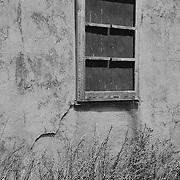 Mormon Row Homestead Window - Grand Tetons, WY - Black & White