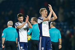 Darren Fletcher celebrates after West Brom win 2-0 - Photo mandatory by-line: Rogan Thomson/JMP - 07966 386802 - 11/02/2015 - SPORT - FOOTBALL - West Bromwich, England - The Hawthorns - West Bromwich Albion v Swansea City - Barclays Premier League.