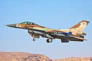 Israeli Air Force (IAF) F-16C (Barak) Fighter jet in flight