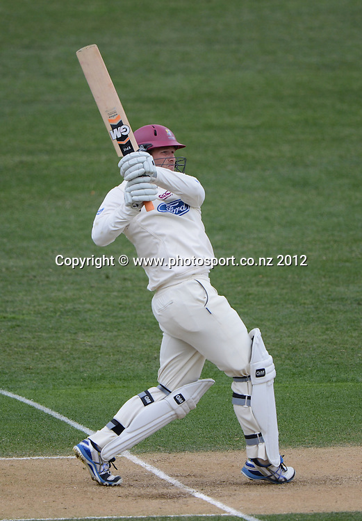 Corey Anderson batting for Northern. Plunket Shield Cricket, Auckland Aces v Northern Knights at Eden Park Outer Oval. Monday 12 November 2012. Photo: Andrew Cornaga/Photosport.co.nz