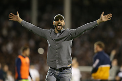 Fulham fans after the game - Mandatory by-line: Paul Terry/JMP - 14/05/2018 - FOOTBALL - Craven Cottage - Fulham, England - Fulham v Derby County - Sky Bet Championship Play-off Semi-Final