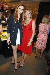 Left to right, ALEXANDRA SPENCER daughter of Michael Spencer and her mother LORRAINE SPENCER at an evening of private shopping in aid of Elizabeth Fitzroy Support at Tiffany & Co, 145 Sloane Street, London on 14th May 2008.<br /><br />NON EXCLUSIVE - WORLD RIGHTS