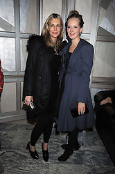 Left to right, KIM HERSOV and SAVANNAH MILLER at a party for Yves Saint Laurent's Creative Director Stefano Pilati given by Colin McDowell held at The Connaught Bar, The Connaught, Mount Street, London on 29th October 2008.