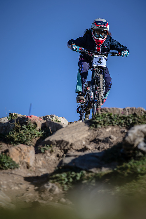 Samantha Soriano (USA) at the 2018 UCI MTB World Championships - Lenzerheide, Switzerland