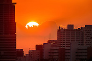 02 MAY 2013 - BANGKOK, THAILAND:   The sunsets over the city of Bangkok, the capital of Thailand.     PHOTO BY JACK KURTZ