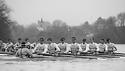 London, Great Britain,  Cambridge, Listo trailinf Fuerte as both crew approach Chiswick Eyot, during the BNY Mellon, 2016 University Men's Boat Race, Putney to Mortlake. ENGLAND. <br /> <br /> Sunday 13.12.2015<br /> <br /> [Mandatory Credit; Peter Spurrier/Intersport-images]<br /> <br /> CUBC Trial VIII's between FUERTE on Surrey and LISTO on Middlesex<br /> <br /> FUERTE, Bow, Peter Carey, 2, Patrick Elwood, 3, Alister Taylor, 4, Peter Rees, 5, Charlie Fisher, 6, Ali Abbasi, 7, Luke Juckett, Stroke, Lance Tredell, Cox, Ian Middleton<br /> <br /> LISTO, Bow, Piers Kasas, Felix Newman, 3, Sam Ringer, 4, Joe Carroll, 5, Clemens Auersperg, 6, Vincent Bertram, 7, Henry Hoffstot, Stroke, Ben Ruble, Cox, Hugo Ramambason