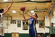 Vergennes' Breanna De Smit (20) takes a shot during the girls basketball game between Vergennes and Winooski at Winooski High School on Wednesday night December 9, 2015 in Winooski. (BRIAN JENKINS/for the FREE PRESS)
