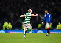 Football - 2019 Betfred Scottish League Cup Final - Celtic vs. Rangers<br /> <br /> Scott Brown of Celtic celebrates at full time, Hampden Park Glasgow.<br /> <br /> COLORSPORT/BRUCE WHITE