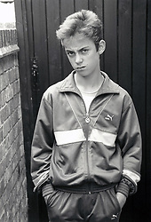 Teenage boy Nottingham UK 1988