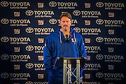 Head Coach Ben McAdoo of the New York Giants during the New York Giants Press Day  at Syon House, Brentford, United Kingdom on 21 October 2016. Photo by Jason Brown.
