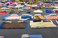 14 June 2017 taken between the hours of 14.51 - 16.24<br /> <br /> Inside Westway sports centre. Emergency accommodation was created in the gym early in the morning and by 5pm it had mattresses donated from locals for 300 people.<br /> <br /> The Grenfell Tower fire occurred on 14 June 2017 at the 24-storey, 220-foot-high (67 m), tower block of public housing flats in North Kensington, Royal Borough of Kensington and Chelsea, West London. It caused at least 80 deaths and over 70 injuries.