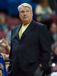 November 8, 2009; Sacramento, CA, USA;  Golden State Warriors head coach Don Nelson during the first quarter against the Sacramento Kings at the ARCO Arena. The Kings defeated the Warriors 120-107.