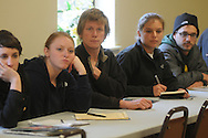 Colorado State students listen to speakers at Second Baptist Church in Oxford, Miss. on Monday, March 15, 2010.
