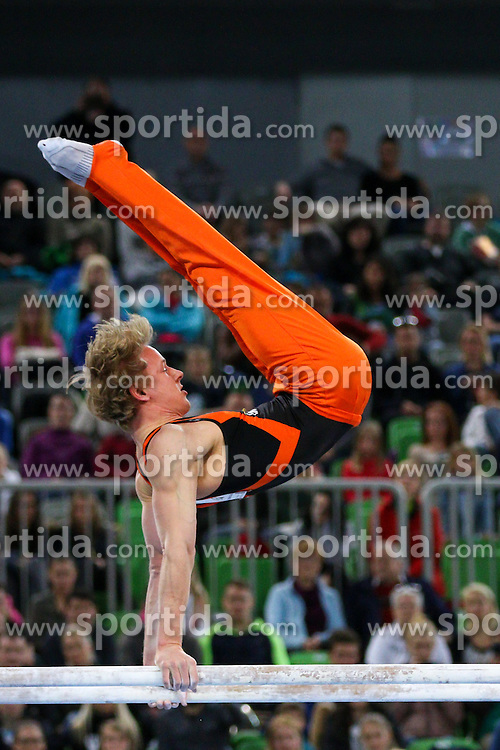 Epke Zonderland of Netherlands competes in Parallel Bar during Final of Artistic Gymnastics World Challenge Cup Ljubljana, on April 5, 2015 in Arena Stozice, Ljubljana, Slovenia. Photo by Morgan Kristan / Sportida