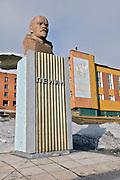 Statue of Lenin in Barentsburg, Spitsbergen, Svalbard.
