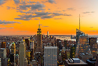 Midtown Manhattan Skyline at twilight (looking south), New York, New York USA.