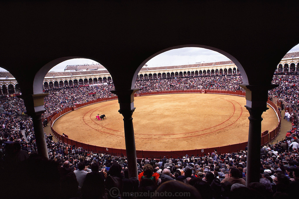 Bullfight, Seville, Spain.