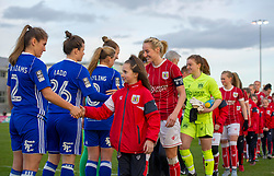 Bristol City Women and mascots pre-match - Mandatory by-line: Paul Knight/JMP - 28/03/2018 - FOOTBALL - Stoke Gifford Stadium - Bristol, England - Bristol City Women v Birmingham City Ladies - FA Women's Super League