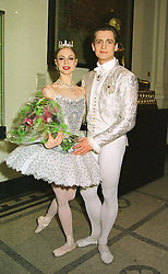 Dancers AGNES OAKS and THOMAS EDUR at a ball in London on 12th March 1999.MPH 65