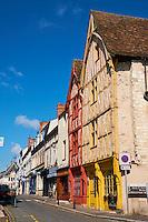 France, Loir-et-Cher (41), Montrichard, maison à colombage rue Nationale // France, Loir-et-Cher, Montrichard, timbered house on Nationale street
