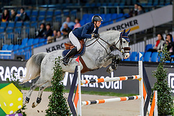 FUCHS Martin (SUI), Silver Shine<br /> Stuttgart - German Masters 2019<br /> Preis der Bardusch GmbH & Co.KG Textil-Mietdienste<br /> 2-Phasenspringen<br /> Int. Springprüfung CSI 5*-W<br /> 14. November 2019<br /> © www.sportfotos-lafrentz.de/Stefan Lafrentz
