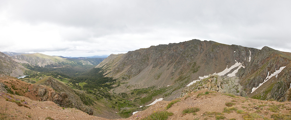 Devil's Thumb Pass, with Devil's Thumb Lake in the distance. Altitude just below 12,000ft