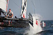 Extreme Sailing Series 2011. Leg 1. Muscat. Oman.Luna Rossa during a practice day