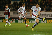 Milton Keynes Dons midfielder Antony Kay shot is in vain as the whistle has already blown during the Sky Bet Championship match between Burnley and Milton Keynes Dons at Turf Moor, Burnley, England on 15 September 2015. Photo by Simon Davies.