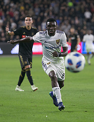 November 1, 2018 - Los Angeles, California, U.S - Sunny #8 of Real Salt Lake runs for the ball during their MLS playoff game with the LAFC on Thursday November 1, 2018 at Banc of California Stadium in Los Angeles, California. LAFC vs Real Salt Lake. (Credit Image: © Prensa Internacional via ZUMA Wire)