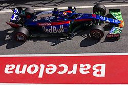 February 21, 2019 - Barcelona, Barcelona, Spain - Alexander Albon from Thailand 23 Scuderia Toro Rosso Honda in action during the Formula 1 2019 Pre-Season Tests at Circuit de Barcelona - Catalunya in Montmelo, Spain on February 21, 2019. (Credit Image: © Xavier Bonilla/NurPhoto via ZUMA Press)