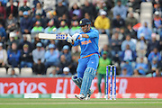 MS Dhoni of India batting during the ICC Cricket World Cup 2019 match between South Africa and India at the Hampshire Bowl, Southampton, United Kingdom on 5 June 2019.