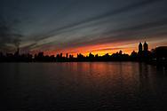 Sunset at the Reservoir in Central Park