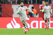 Liverpool forward Mohamed Salah (11) during the Champions League match between Bayern Munich and Liverpool at the Allianz Arena, Munich, Germany, on 13 March 2019.