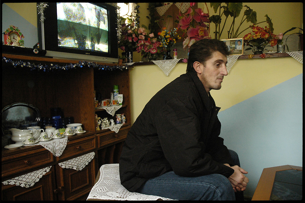 Mevludin Oric, one of only a handful of survivors from the Srebrenica massacre, at his home in Ilijas, near Sarajevo