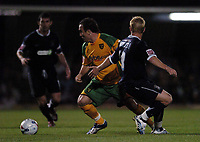 Photo: Olly Greenwood.<br />Southend United v Norwich City. Coca Cola Championship. 12/09/2006. Norwich's Lee Croft and Southend's Steven Hammell