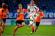 Onderwerp/Subject: Willem II - FC Volendam - Jupiler League<br /> Reklame:  <br /> Club/Team/Country: <br /> Seizoen/Season: 2013/2014<br /> FOTO/PHOTO: Niek VOSSEBELT (R) of Willem II in duel with Levi SCHWIEBBE (L) of FC Volendam. (Photo by PICS UNITED)<br /> <br /> Trefwoorden/Keywords: <br /> #04 $94 &plusmn;1372506528100<br /> Photo- &amp; Copyrights &copy; PICS UNITED <br /> P.O. Box 7164 - 5605 BE  EINDHOVEN (THE NETHERLANDS) <br /> Phone +31 (0)40 296 28 00 <br /> Fax +31 (0) 40 248 47 43 <br /> http://www.pics-united.com <br /> e-mail : sales@pics-united.com (If you would like to raise any issues regarding any aspects of products / service of PICS UNITED) or <br /> e-mail : sales@pics-united.com   <br /> <br /> ATTENTIE: <br /> Publicatie ook bij aanbieding door derden is slechts toegestaan na verkregen toestemming van Pics United. <br /> VOLLEDIGE NAAMSVERMELDING IS VERPLICHT! (&copy; PICS UNITED/Naam Fotograaf, zie veld 4 van de bestandsinfo 'credits') <br /> ATTENTION:  <br /> &copy; Pics United. Reproduction/publication of this photo by any parties is only permitted after authorisation is sought and obtained from  PICS UNITED- THE NETHERLANDS