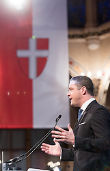 06.04.2016, Palais Ferstel, Wien, AUT, FPÖ, Festakt anlässlich 60 Jahre Freiheitlich Partei Österreich. im Bild Vizebürgermeister und FPOe Klubchef Wien Johann Gudenus // during ceremonial act according to 60 years of the austrian freedom party in austria. Vienna, Austria on 2016/04/06. EXPA Pictures © 2016, PhotoCredit: EXPA/ Michael Gruber