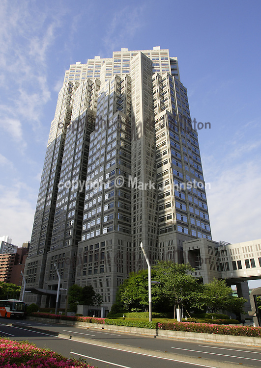 The &quot;Tokyo Metropolitan Government Main Building Number Two&quot; [TMG 2] is<br /> 163 m [535 ft] high with thirty-four stories above and three levels below ground.<br /> <br /> Construction was begun in April 1988 and completed 3 years later.
