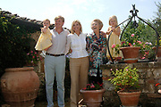 Photo session at the holiday house Roca Dei Draconie in the Italian Tavernelle. The Dutch Royal family is on summer holiday  close to florence.<br />