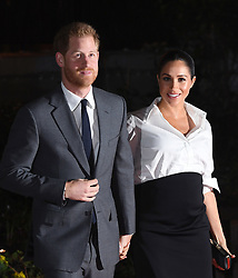 The Duke and Duchess of Sussex arriving at the Endeavour Fund Awards at DraperÕs Hall, London. The awards celebrate the achievements of wounded, injured and sick servicemen and women who have taken part in sporting and adventure challenges over the last year.<br />Picture Credit should read: Doug Peters/EMPICS