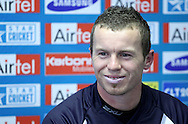 Peter Siddle during the Victorian Bushrangers press conference held at The Wanderers Stadium in Johannesburg on the 6th September 2010 held as part of the build up to the Champions League T20 tournament being held in South Africa between the 10th and 26th September 2010..Photo by: Ron Gaunt/SPORTZPICS/CLT20