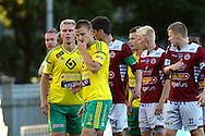 16.8.2015, Tammelan stadion, Tampere.<br /> Veikkausliiga 2015.<br /> Ilves - FF Jaro.<br /> Heikki Aho & Mika Lahtinen - Ilves